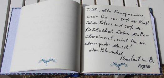 Gästebuch Taufe