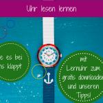 Kinder Lernuhr selbst basteln (gratis-download!) und eine flikflak Armbanduhr