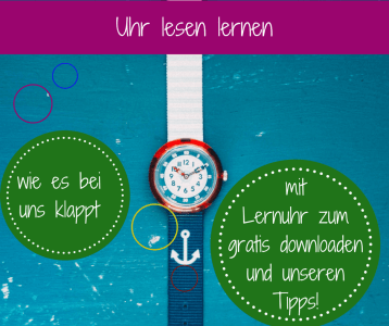 Uhr lesen lernen Kinder Lernuhr flikflak Armbanduhr