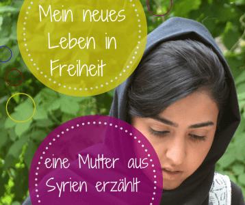 syrische Mutter Erziehung und Leben in Syrien Flüchtling Frauen auf der FLucht