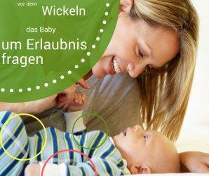 Baby vor dem Wickeln um Erlaubnis fragen