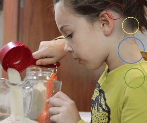 etwas zutrauen Montessori Becherküche