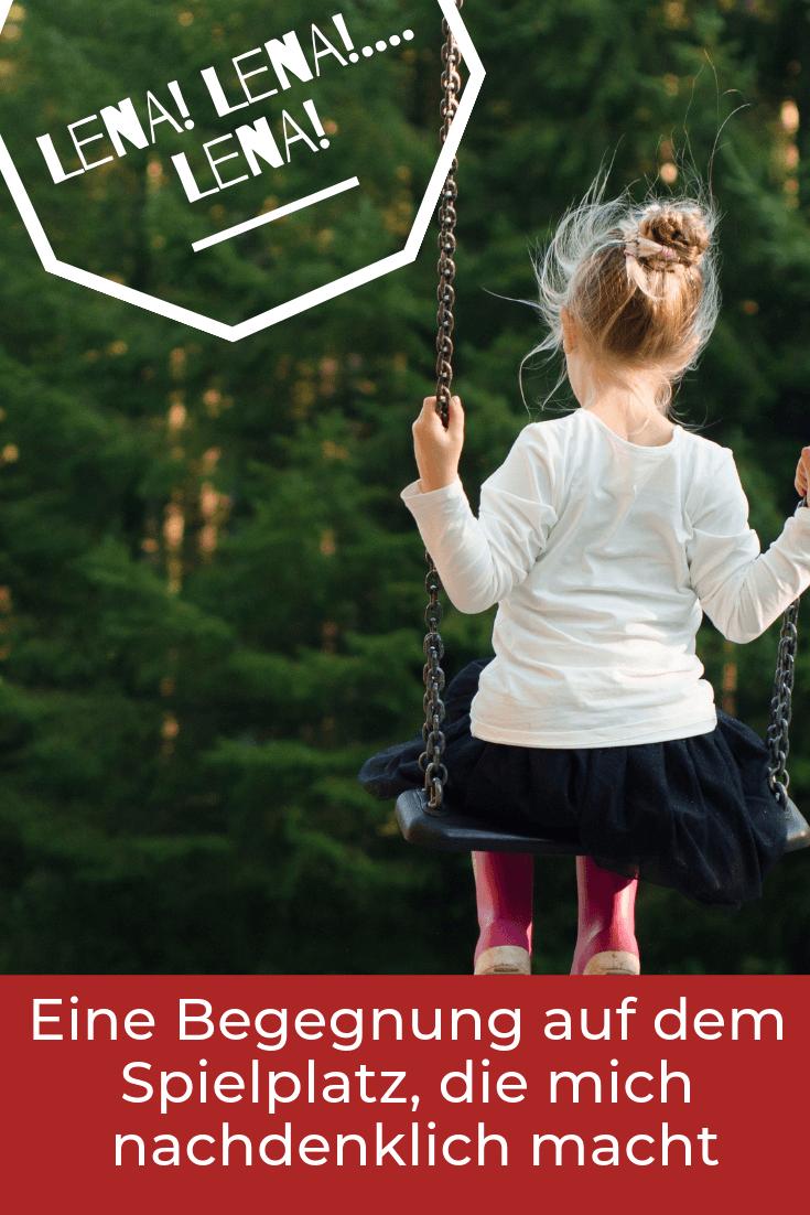 Wenn Kinder nicht gehorchen, dann kann es auch an uns Eltern liegen. Eine Begegnung auf dem Spielplatz die zeigt, dass der Blick von außen manchmal hilfreich sein kann.
