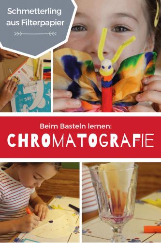 bunter Schmetterling aus Filterpapier - Kinder exprimentieren und entdecken Chromatografie einfache Experimente für Kinder, die Spaß machen #experiment #forschenfürkinder