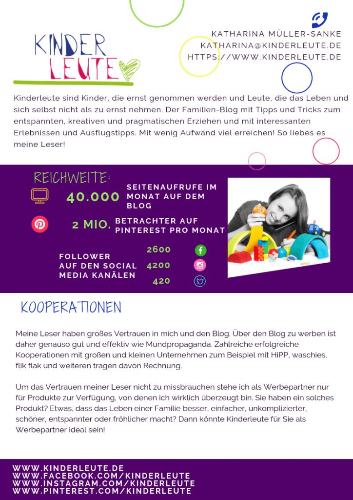 Kooperationen - Ihre Werbung auf Kinderleute