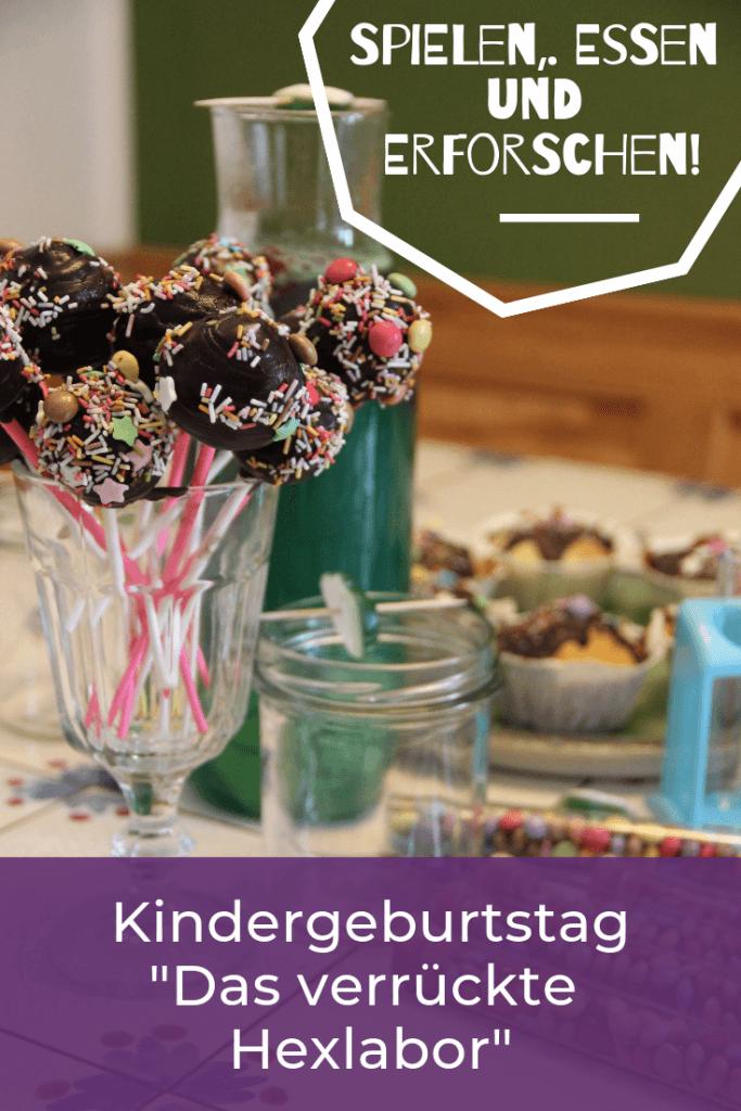 Das verrückte Hexlabor - mit Kindern Kindergeburtstag feiern - für Mädchen und Jungs . Experimente kleine Forscher DIY Geburtstag Party für Kinder