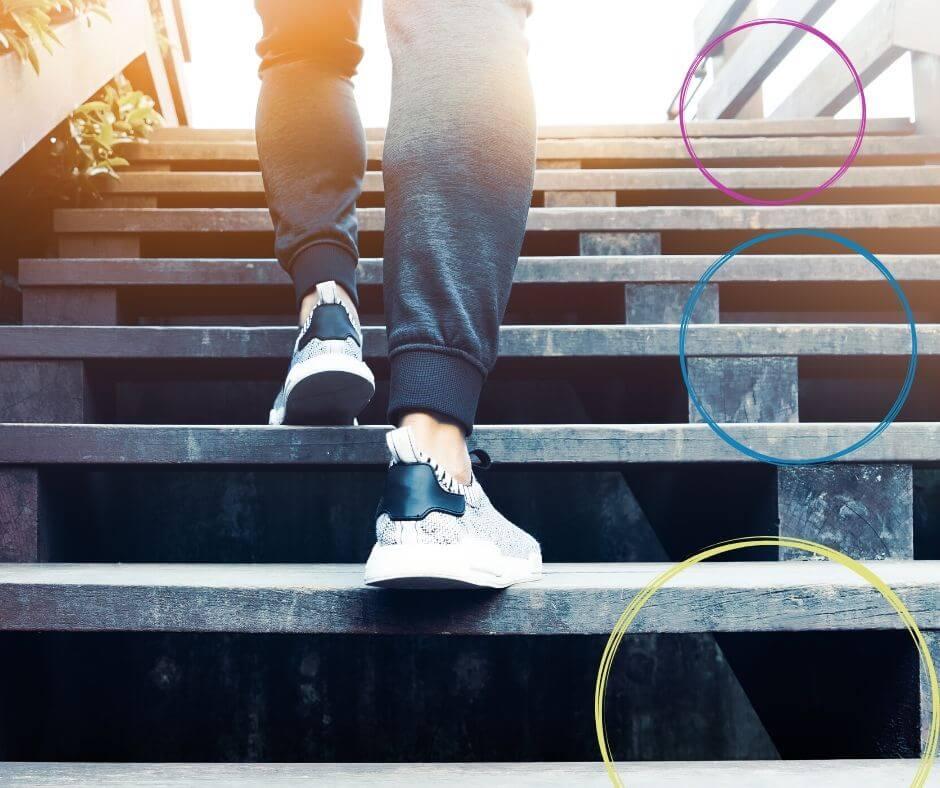 Selbstverteidigung im Alltag GEfahr an der Treppe