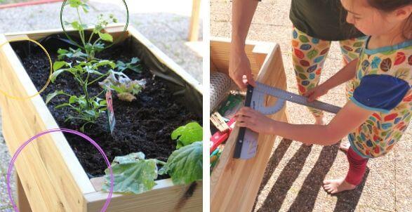 Hochbeet für Kinder selbst bauen