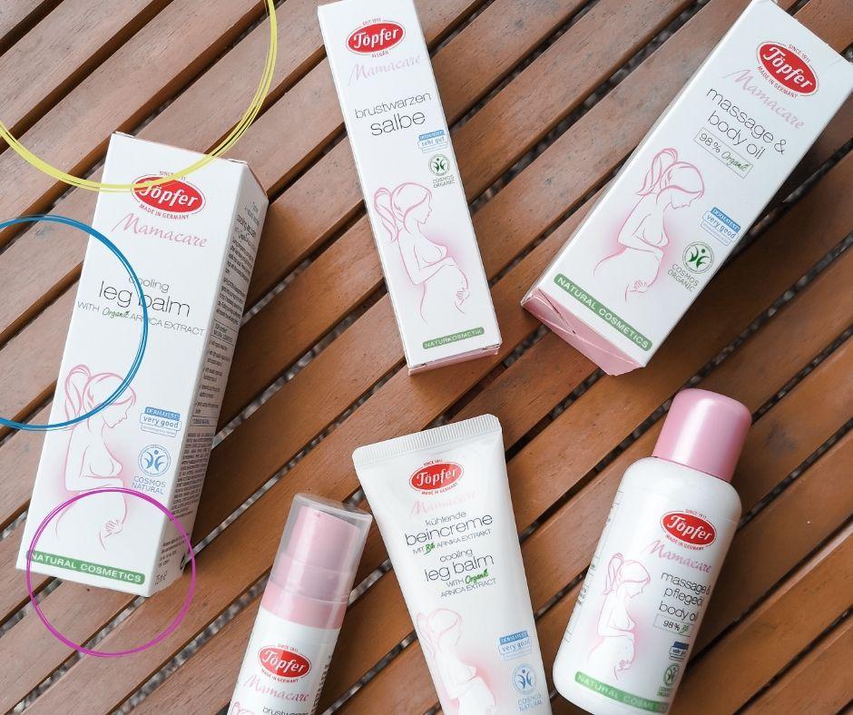 Mamacare Produkte für SChwangerschaft und Stillzeit Töpfer
